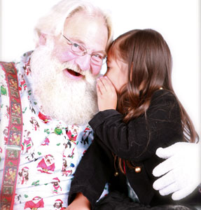 Photo with Santa.  Photo taken by Nicole LaCoste of Nicole LaCoste Photography